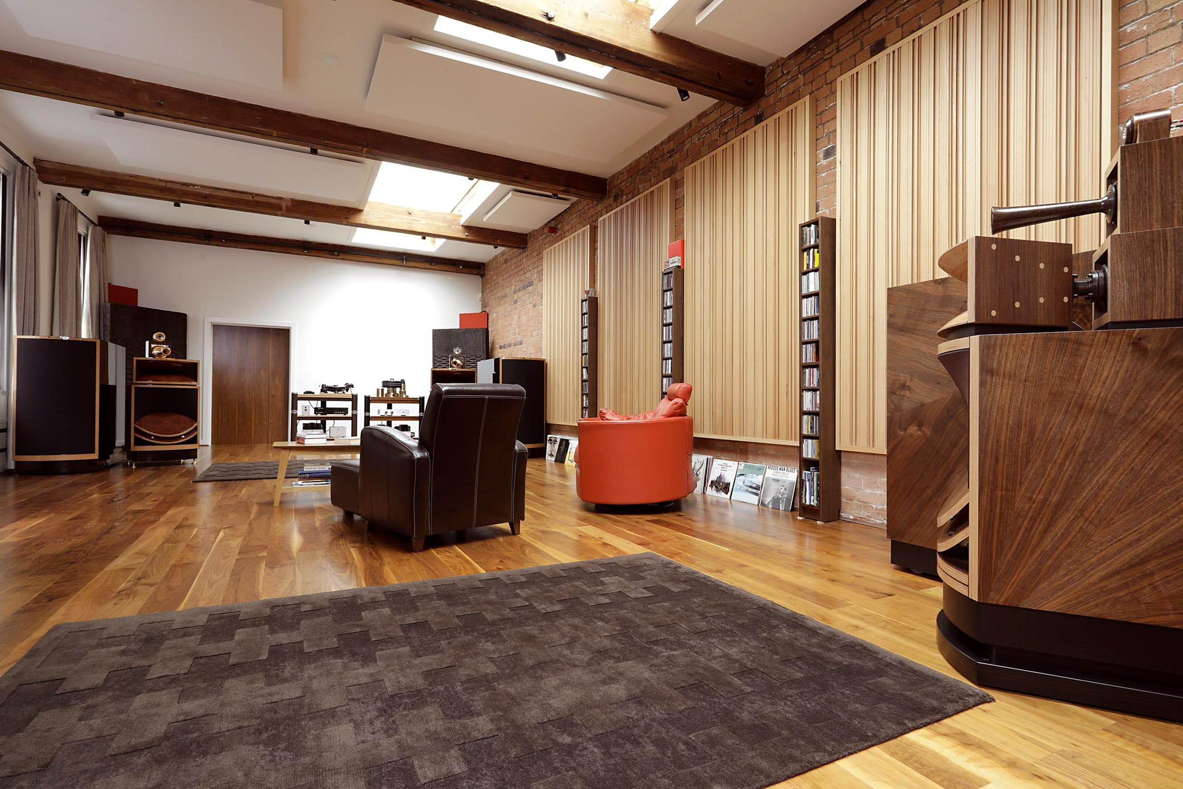 Vox listening suite showing Olympian & Palladian systems